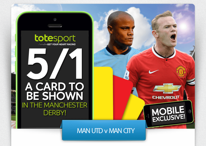 Yellow card in Manchester Derby? 5/1 says YES!